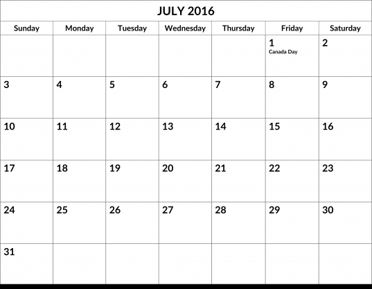 Month Of July Calendar   North.fourthwall.co