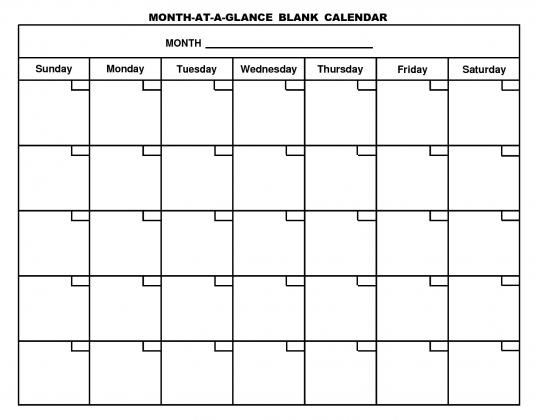 Printable Blank Calendar Template … | Pinteres…