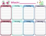 Cute Free Printable Weekly Planner