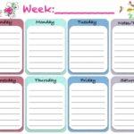 Cute Free Printable Weekly Planner
