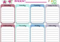 Weekly Blank Calendar Template 5 | Free Printable Weekly Planner