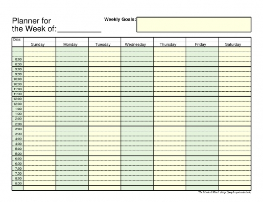 Weekly Planner Template Image 3 | Craft Ideas | Pinterest