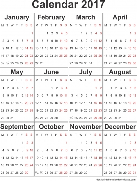 2017 Calendar Templates · Storify
