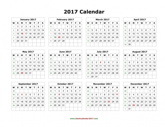 Download The Latest Collection Of Calendar 2017 High Definition