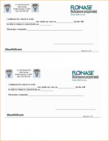 Free Printable Doctors Excuse For Work.24272510   Loan