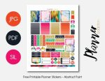 Printable Planner Stickers For August