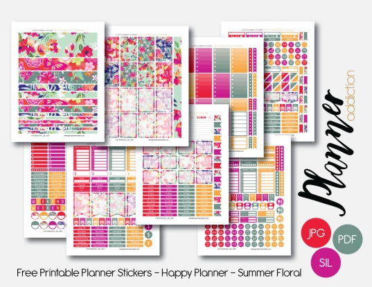 Monthly Set – Summer Floral – Planner Addiction