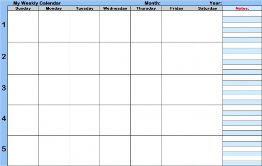 Template: Week Hour Schedule Template Gallery Of Weekly Calendar