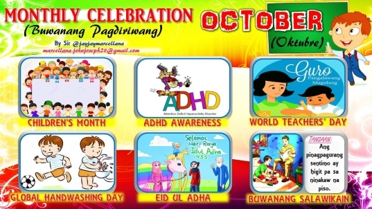 2017 Monthly Celebration With Monthly Motto October | Deped Tambayan Ph
