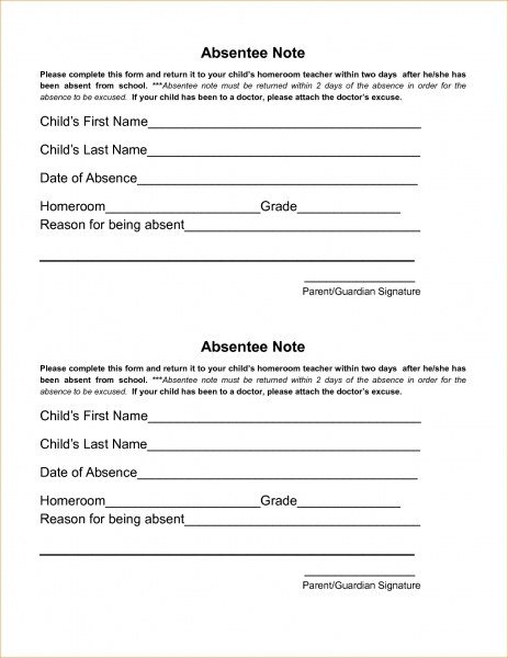 8 Free Printable Doctors Excuse For Workagenda Template Sample