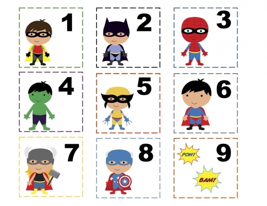 Numbers. This Is Real Cute With The Superheroes. | In The Classroom
