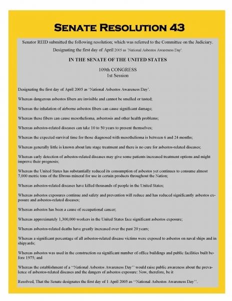 Asbestos Timeline   Adao   Asbestos Disease Awareness Organization
