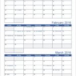 Free Printable Calendars 3 Month