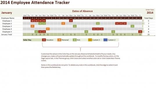 Employee Attendance Tracker Reference Employee Attendance Tracker