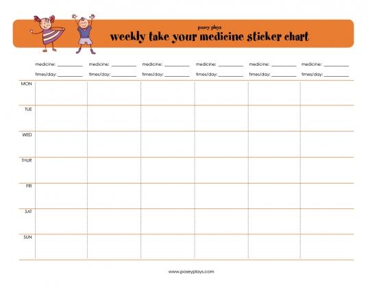 Free Printable Weekly Medicine Sticker Chart | Printables