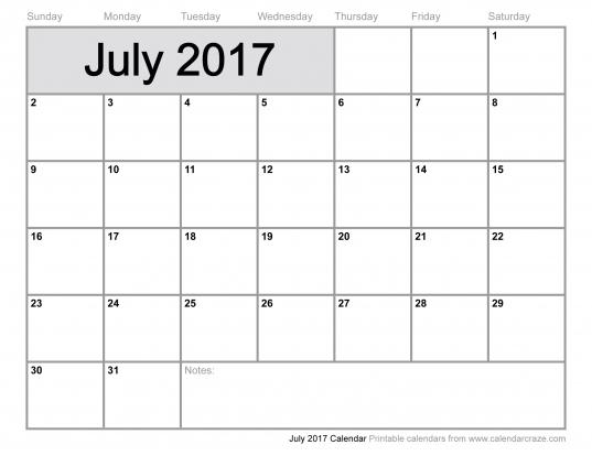July 2017 Calendar Cute | Calendar Printable Free