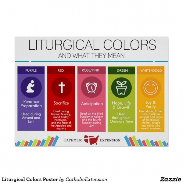 Liturgical Colors Poster   Color Posters And Religious Education