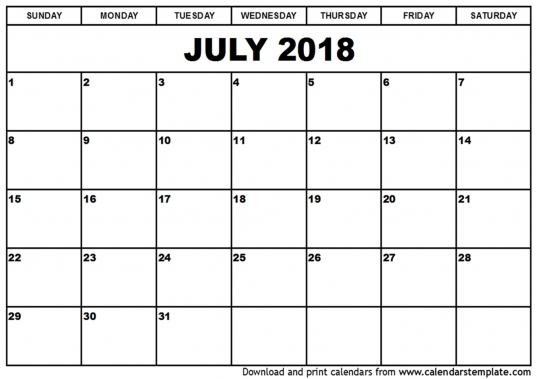 Printable Calendar July 2018   Incep.imagine Ex.co