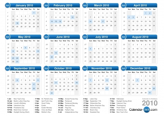 2018 Calendar With Days Of Year Numbered | Calendarphone