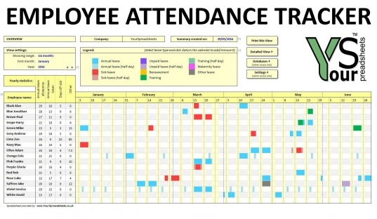 Free Employee Attendance Tracking   Ecza.solinf.co