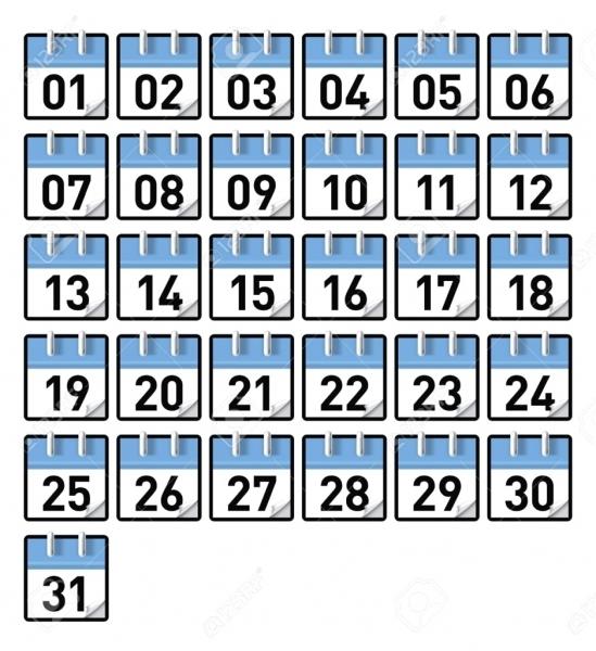Printable Calendar Numbers | Printable Calendar Templates 2018 2019