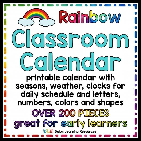 Rainbow Classroom Calendar