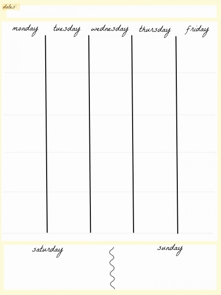 Awesome 5 Day Schedule Template In 2020 | Weekly Calendar