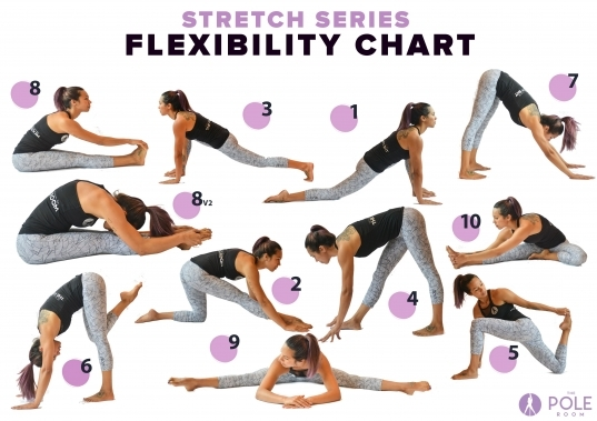 Stretch Series 28 Day Splits Challenge Flexibility Chart