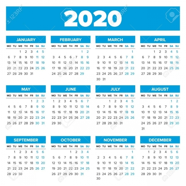 Calendario 2020 Con Semanas | Calendar For Planning