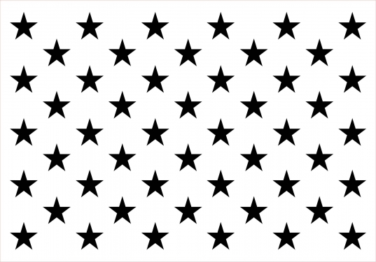 Custom Wood Template With Fifty Engraved Area For Stars And