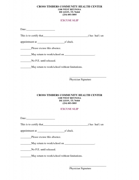 Free Doctors Note Template | Scope Of Work Template (with