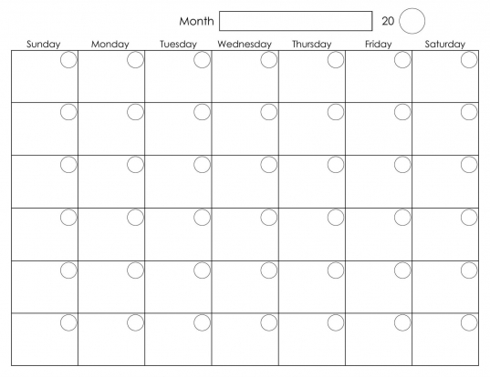 Free Printable 2020 Calendar Template Pdf, Word, Excel, Page