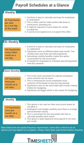 How To Choose A Payroll Schedule   Infographic