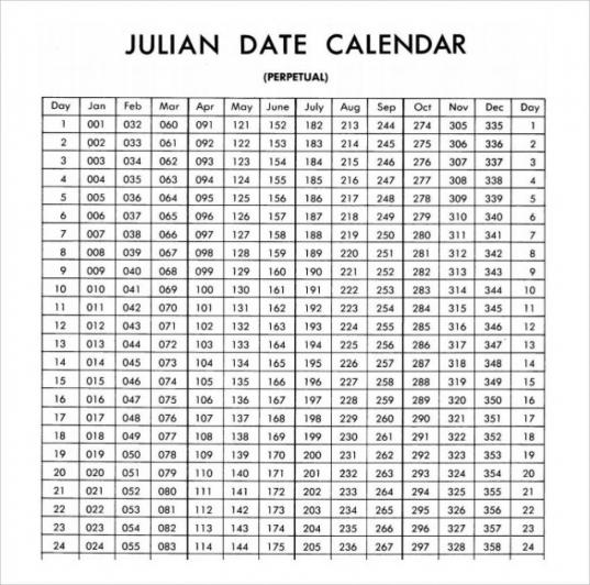 Julian Date Calendar 2020 | Calendar For Planning