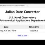 Julian Date Format