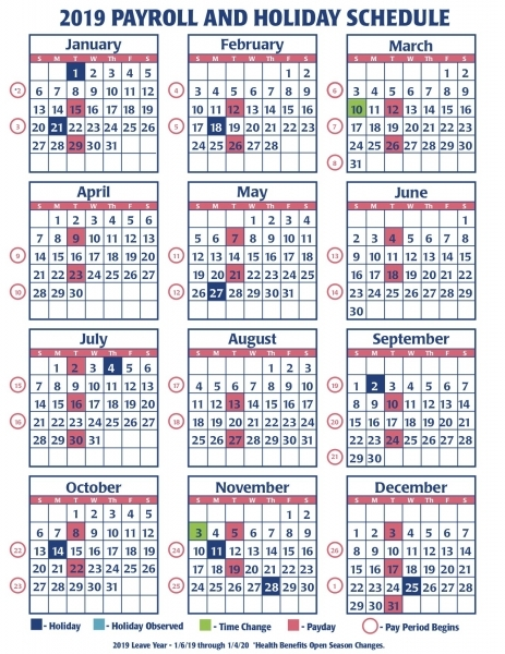 Payroll Calendar Federal Government | Payroll Calendar 2020