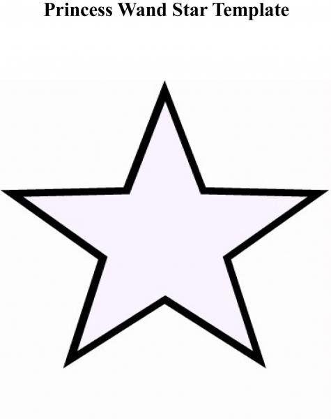 Princess Wand Star Printable Template 1,555×1,961 Pixels