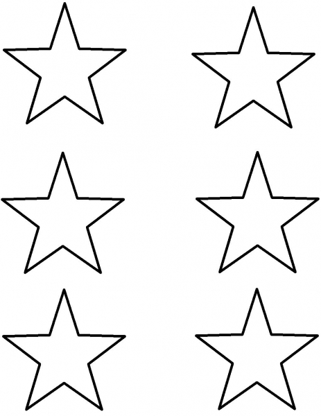 Stars To Print | Crayons (if You Print Template Out) | Star