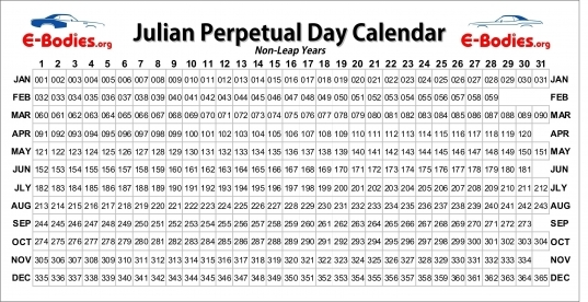 Today Is What Day In Julian Date   Calendar Inspiration Design