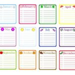 Downloadable Fillable Birthday Calendar Templates