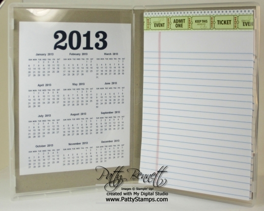 2013 Calendar And Notepad Class   Patty Stamps