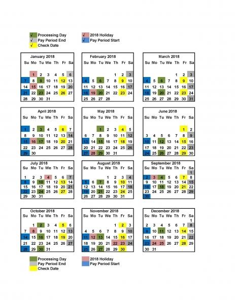 2018 Payroll Calendar Dod | Payroll Calendars 2020