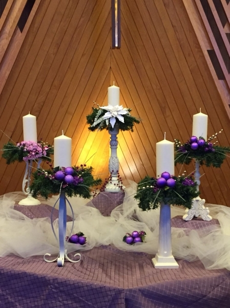 Advent Altar 2015 Parkrose Umc. Altar Decorated With White