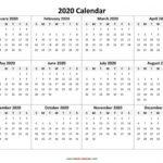8 1/2 X 11 Printable Calendar 2020 Monday Thru Sunsday