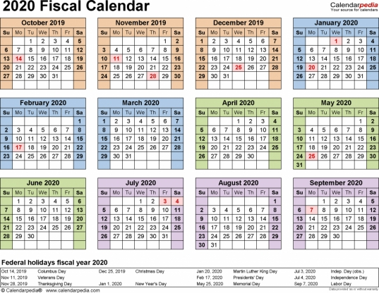 2020 Biweekly Payroll Calendar Template Excel | Payroll