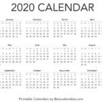Business Calendar 2020 Mon To Sund