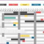 Employee Annual Time Off Calendar