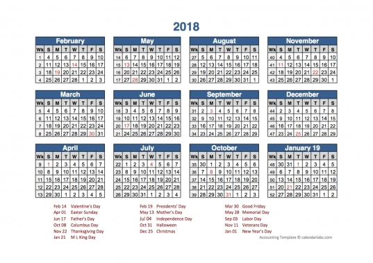 4 4 5 Calendar 2019 | Get Your Calendar Example
