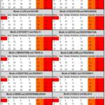 28 Day Calendar