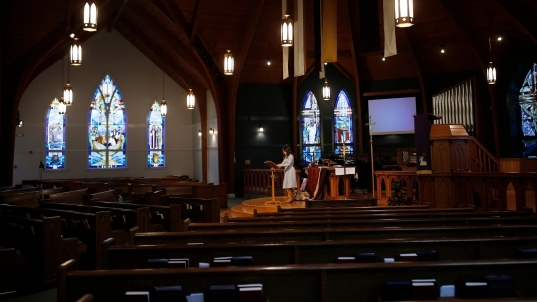 A Sunday Without Church: In Crisis, A Nation Asks, 'what Is